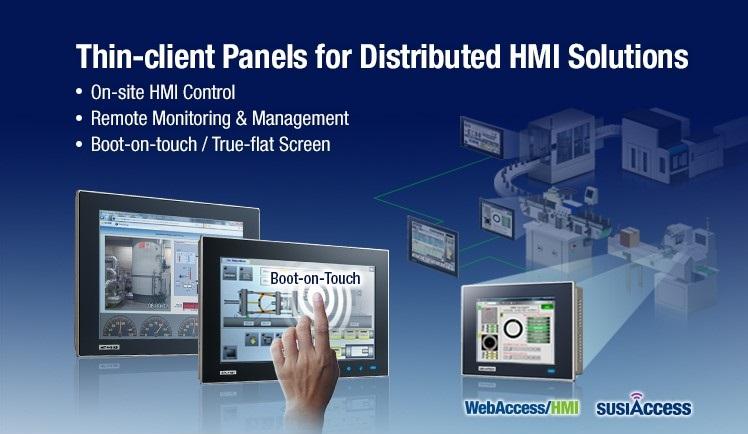 Advantech Thin-client Panels for Distributed HMI Solutions